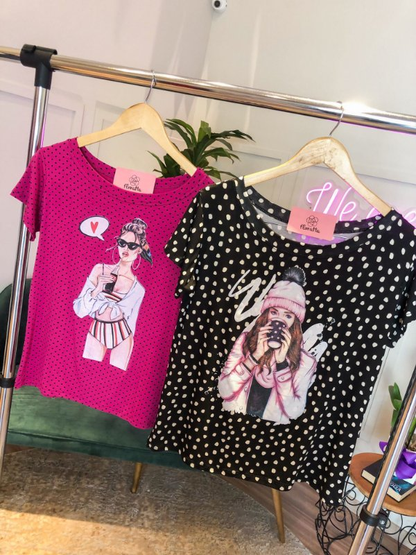 T-shirt Poá