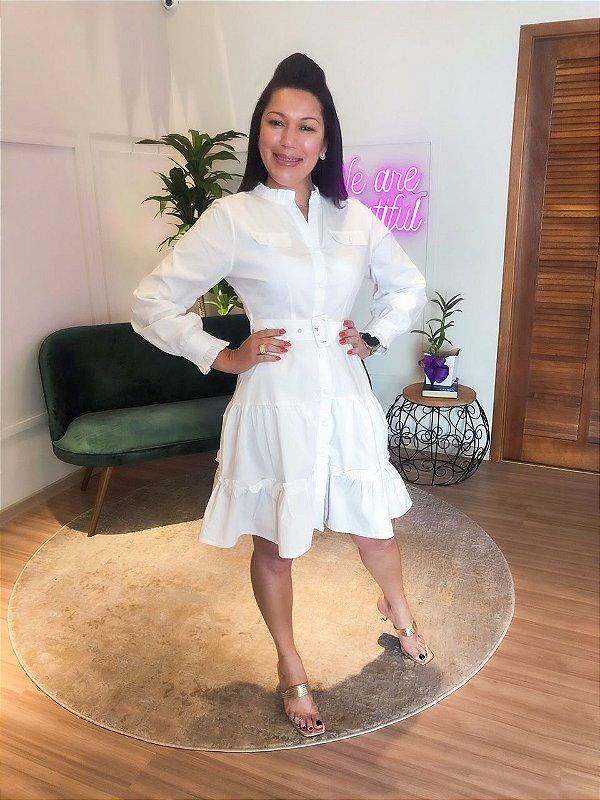 Vestido Tricoline Branco