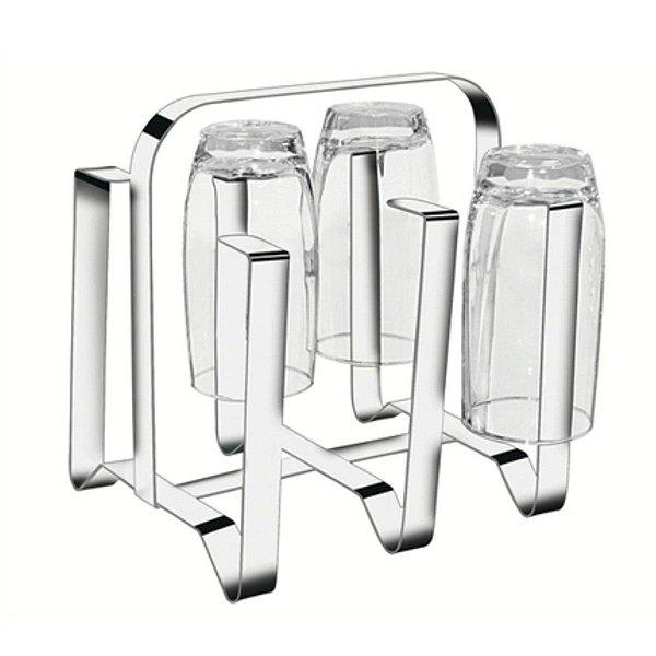 Escorredor de Copos em Aço Inox para 6 Copos Mak Inox
