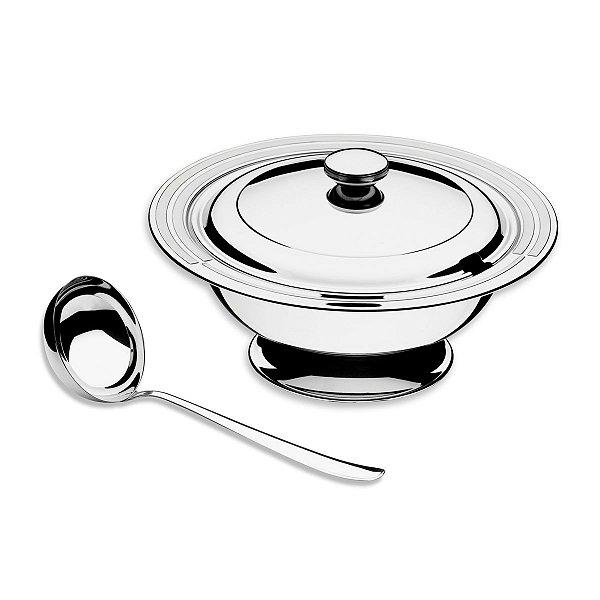Kit para Sopa Tramontina Ciclo em Aço Inox 2 Peças