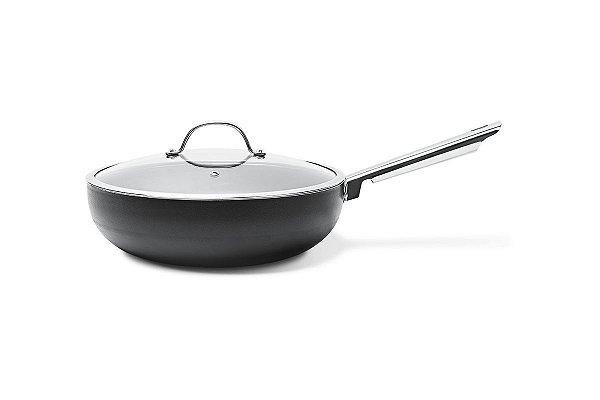 Wok com tampa Curry Ø28 cm 28 cm - Preto Brinox