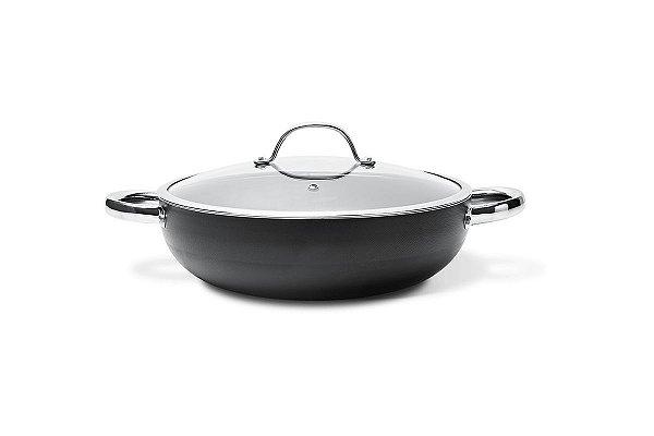 Wok com tampa e alças Curry Ø28 cm 28 cm - Preto Brinox