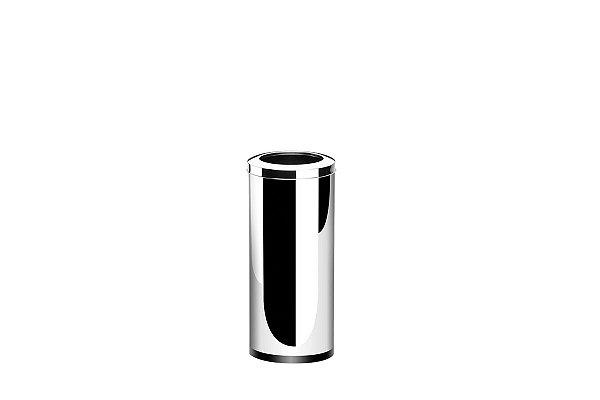 Lixeira Inox com Aro 28,17 Litros - Decorline Lixeiras Ø 25 x 60 cm - Brinox