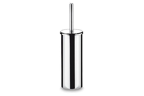 Suporte Inox com Escova para Banheiro - Decorline Banheiro Ø 10,5 x 39 cm - Suporte Inox com Escova para Banheiro - Decorline Banheiro Ø 10,5 x 39 cm - Brinox