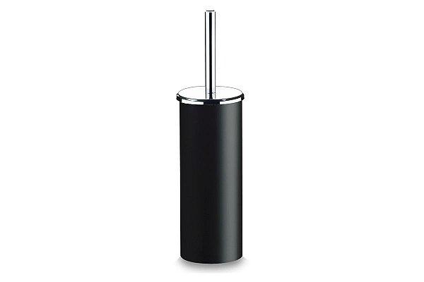 Suporte PS com Escova para Banheiro - Decorline Banheiro Ø 10 x 39 cm - Preto Brinox