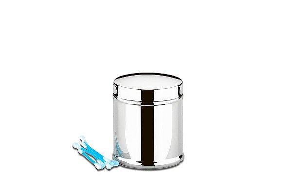 Porta Hastes Flexíveis de Algodão Inox - Decorline Ø 7,5 x 9 cm - Brinox