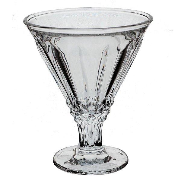 Jogo de 6 taças para sorvete em cristal 220ml A12,5cm