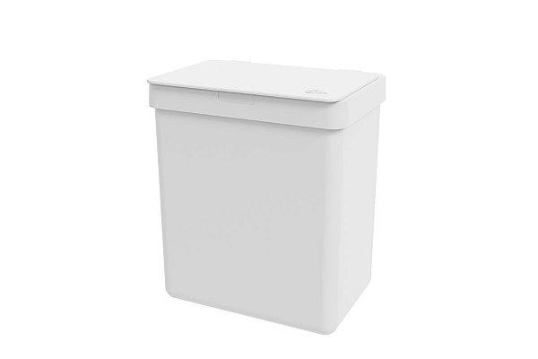 Lixeira Single 2,5 litros Coza 16,4 x 11,8 x 18,5 cm - Branco Coza