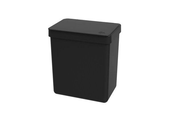 Lixeira Single 2,5 litros Coza 16,4 x 11,8 x 18,5 cm - Preto Coza