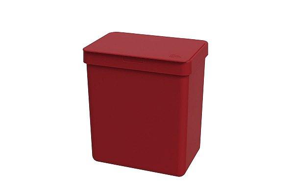 Lixeira Single 2,5 litros Coza 16,4 x 11,8 x 18,5 cm - Vermelho Bold Coza