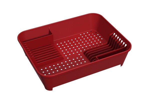 Escorredor de Louças Basic 45 x 35 x 10,5 cm - Vermelho Bold Coza