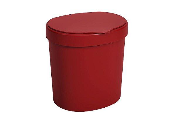 Lixeira com tampa 17,5 x 15 x 18,2 cm 2,5 L - Vermelho Bold Coza