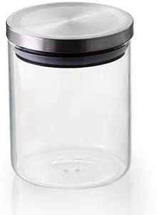 Pote Hermético Transparente De Borossilicato Com Tampa Inox 750 Ml Mimo Style