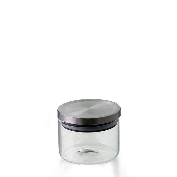 Pote Hermético de Vidro Borossilicato com Tampa Inox 370ML - VD19154 - Mimo Style