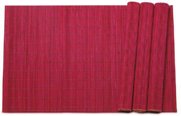 Jogo Americano Bambu Vermelho com 4 Peças - Mimo Style