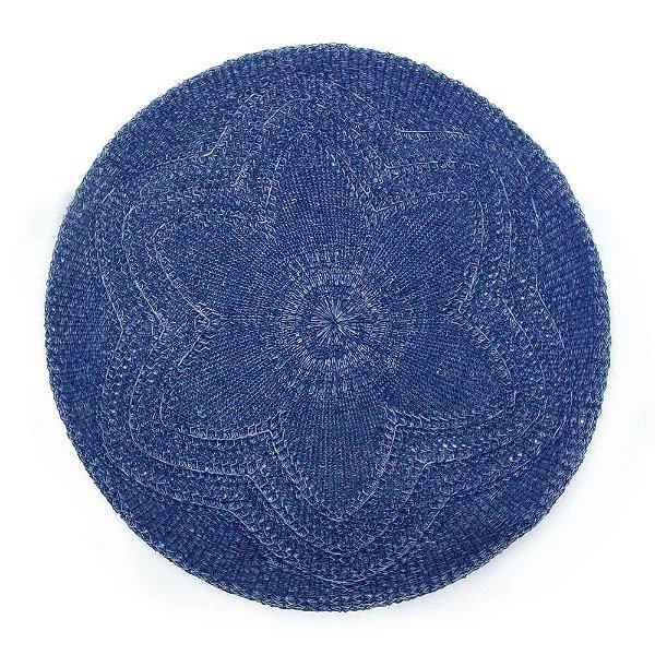 Lugar americano croche flor azul marinho - Mimo Style