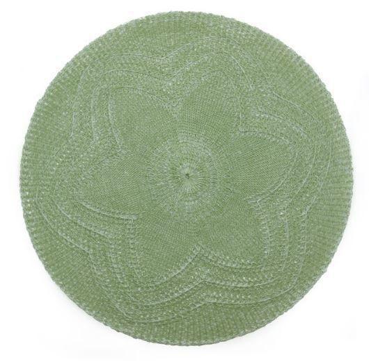Lugar Americano Crochê Flor Verde JA19050 - Mimo Style