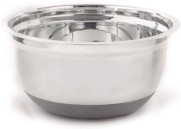 Bowl Inox Silicone 21 Cm de diametro