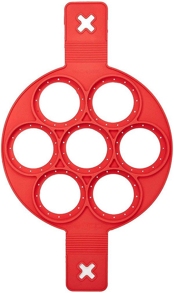 Forma de Silicone para Panqueca Mimo Style Vermelho de 24 cm