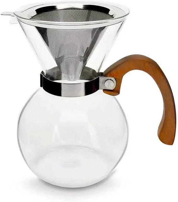 PASSADOR DE CAFE VIDRO ALCA MADEIRA MIMO