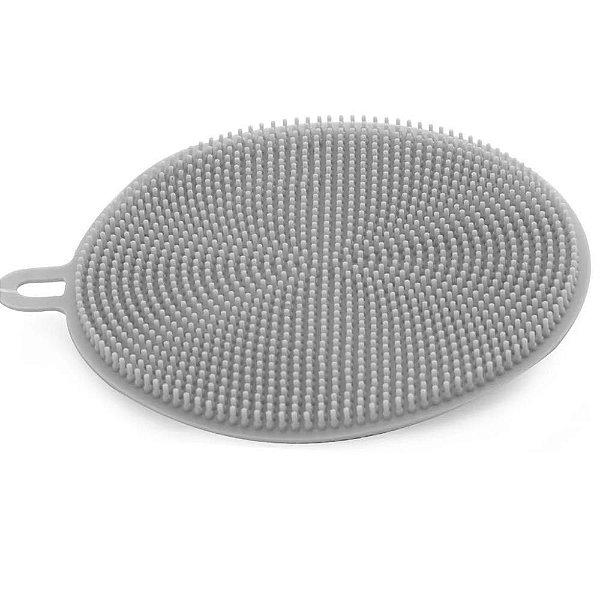 Esponja para Limpeza 2 faces em silicone de 10 cm