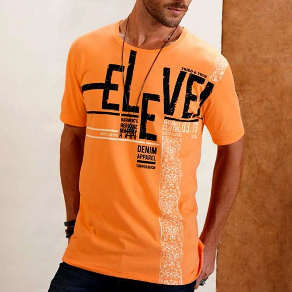 CAMISETA ELEVEN SILK TRIED AND TRIU ORANGE