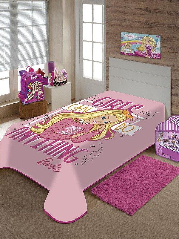 Cobertor Solteiro Barbie Jolitex 1,50x2,00