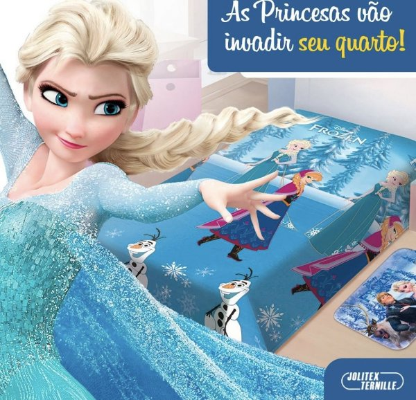Manta Solteiro Frozen Soft Jolitex
