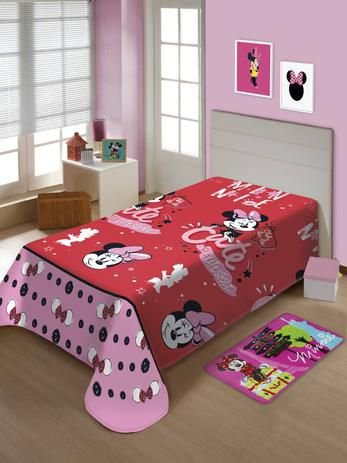 Manta Solteiro Soft Minnie Jolitex
