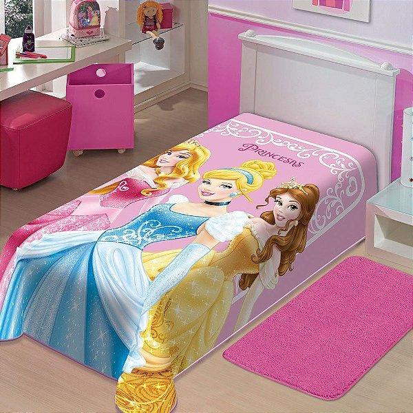 Cobertor Solteiro Princesas