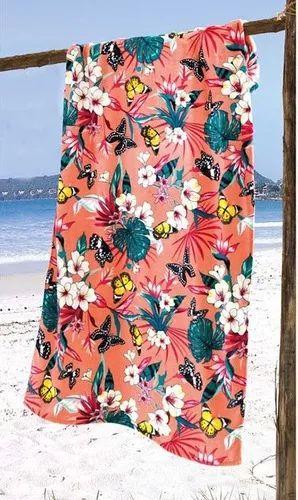 Toalha Praia Aveludada Dohler Tropical 02