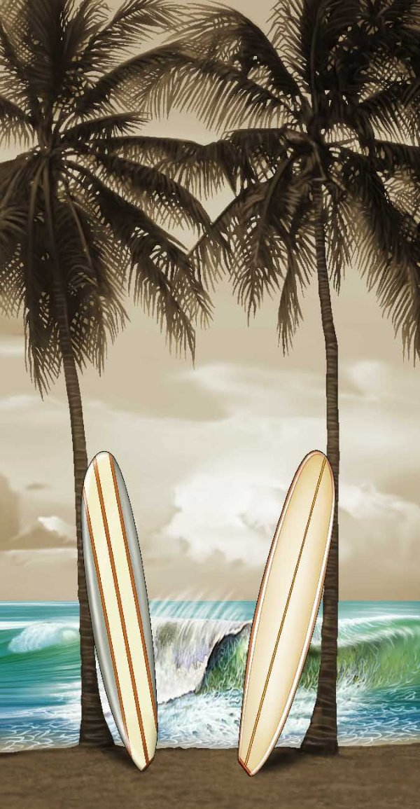 Toalha Praia Buettner Pranchas 64717