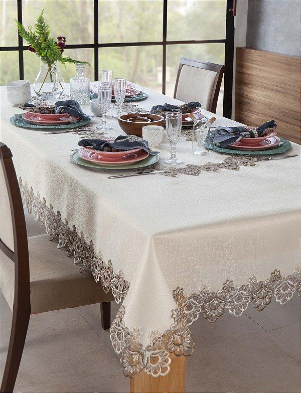 Toalha de mesa Rendada Veneza 140x140 Jolitex