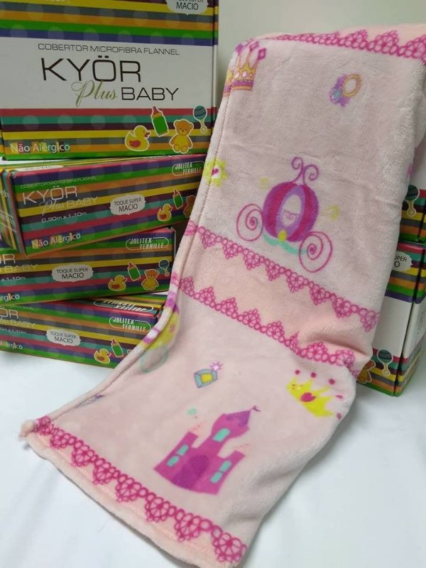 Cobertor Microfibra Flannel Baby Princesa Kyor Jolitex