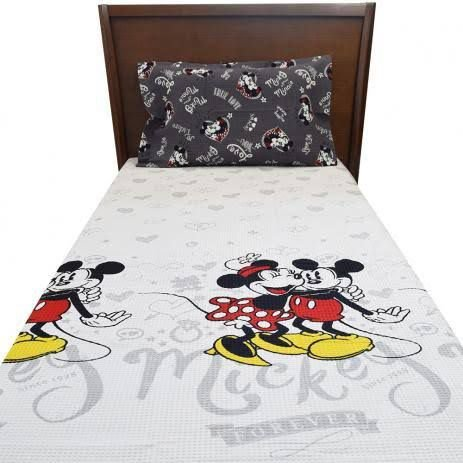 Kit Colcha Solteiro Disney Mickey e Minnie Dohler