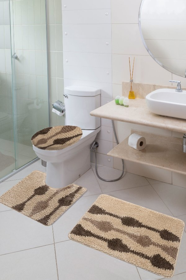 Jogo Banheiro Van Gogh Jolitex Gotas