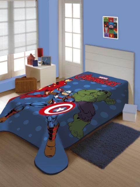 Cobertor Solteiro Avengers  Jolitex 1,50x2,00