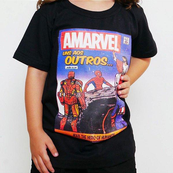 Camiseta Infantil - Amarvel Preta