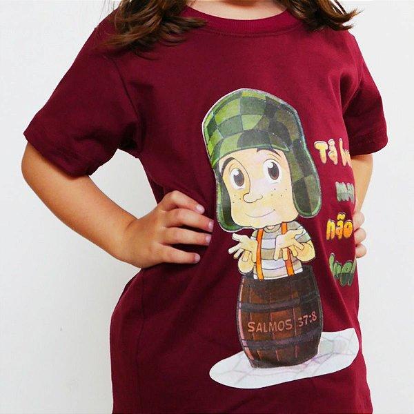 Camiseta Infantil - Não Se Ire Bordô