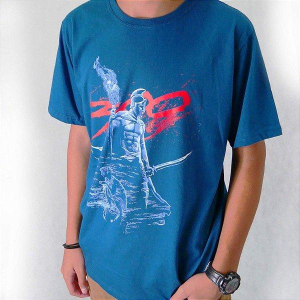 Camiseta 300 de Gideão Azul Petróleo