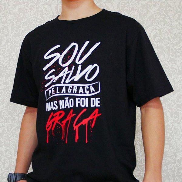 Camiseta Salvo Pela Graça (Preta)