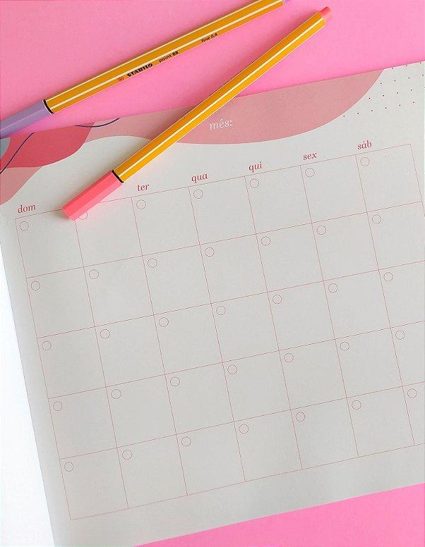 Planner de mesa mensal Moléculas