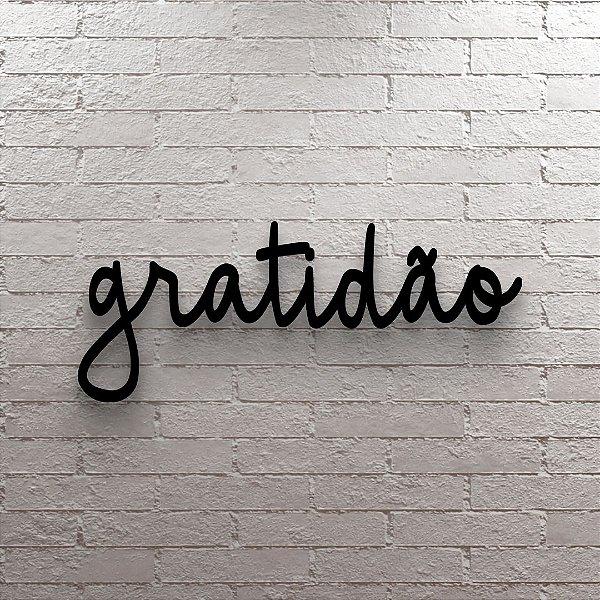 Placa Decorativa Gratidão