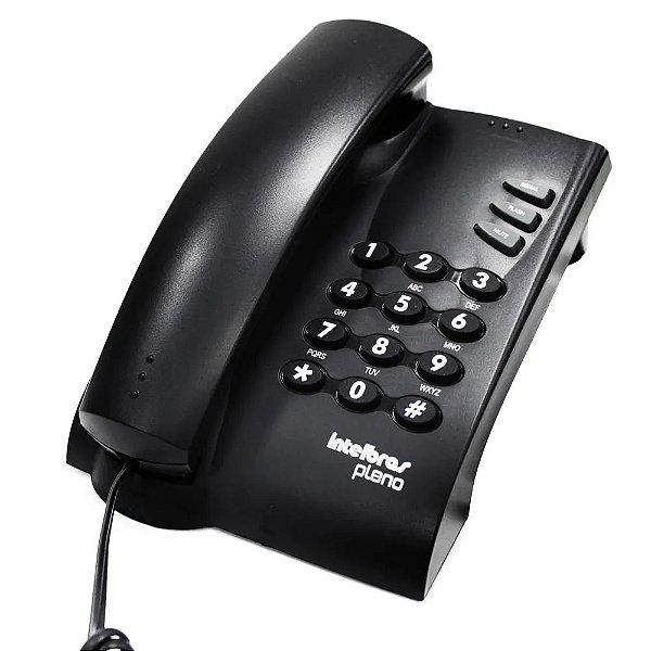 APARELHO TELEFONE PRETO C/ CHAVE, INTELBRAS PLENO