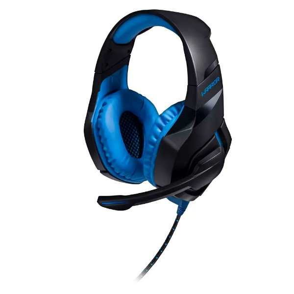 FONE DE OUVIDO HEADSET GAMER WARRIOR STRATON USB LED AZUL, MULTILASER PH244