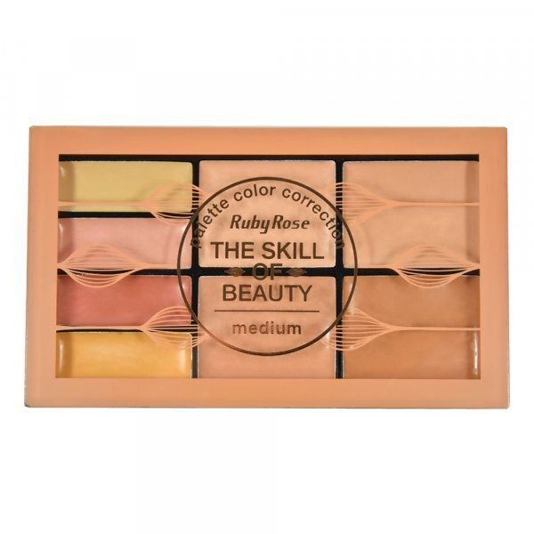 Paleta Corretivo The Skill of Beauty Medium Ruby Rose HB-8097
