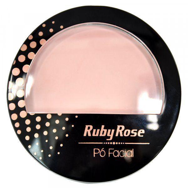 Ruby Rose Pó Facial HB-7212 - Cor 19 Nude Rosado