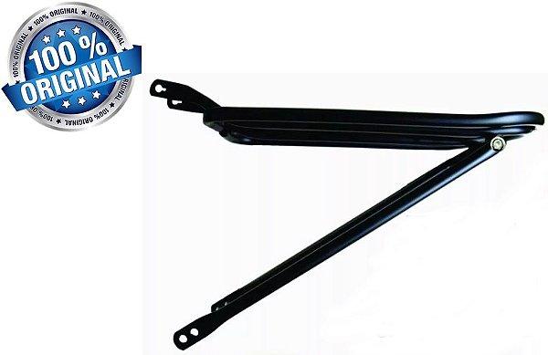 Bagageiro Ferro Tubular Dobrável PRETO