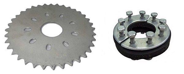 Coroa 36 Dentes Modelo Novo C/ Kit Fixação