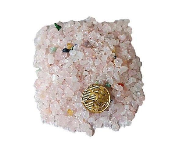 500g De Pedra Rolada De Cascalho Quartzo Rosa Natural Atacado Chakra